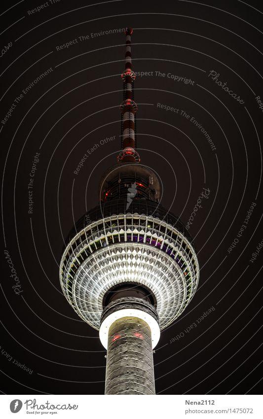Fernsehturm Berlin Fernseher Radiogerät Stadt Hauptstadt Stadtzentrum Bauwerk Antenne Sehenswürdigkeit Wahrzeichen historisch hoch rund Restaurant