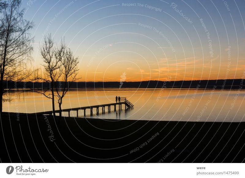 Der Winter der ein Sommer war... Mensch Natur Ferien & Urlaub & Reisen schön Wasser ruhig Küste See Platz Steg Abenddämmerung Teich Bayern Tourist friedlich