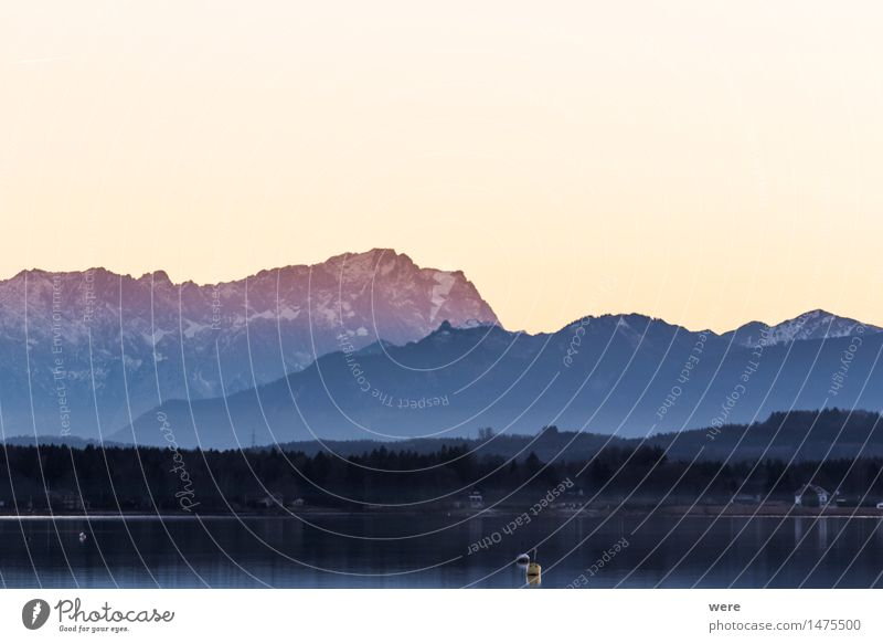 Alpenglühen Ferien & Urlaub & Reisen schön Erholung ruhig Berge u. Gebirge Tourismus Fußweg Abenddämmerung Bergsteigen Tourist friedlich verblüht Bergwanderung