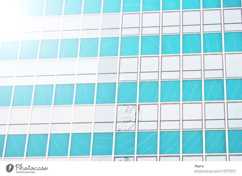 Himmel Stadt blau Architektur Gebäude Business Fassade hell Arbeit & Erwerbstätigkeit Design Büro modern Hochhaus Perspektive Technik & Technologie hoch