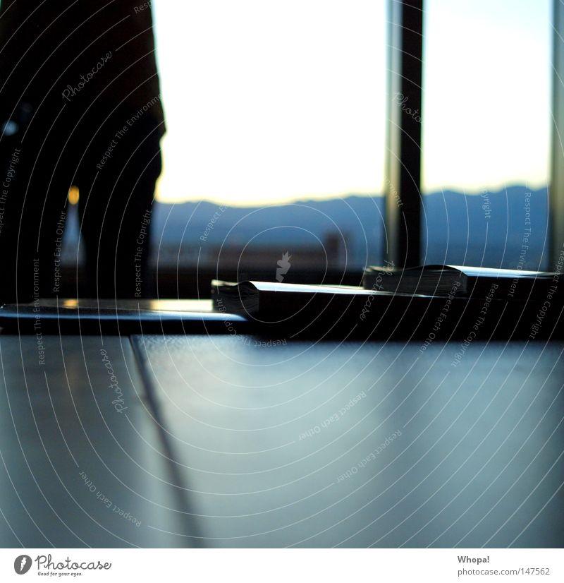 CALIFORNIA L-O-V-E - VII Hotel Hotelzimmer Fenster Panorama (Aussicht) Tisch Zeitschrift Sonnenuntergang genießen schön Las Vegas Nevada USA Hotelsuite