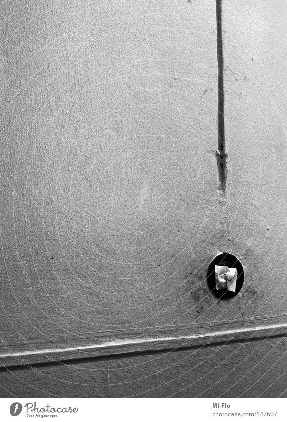 Heiko Angst Tapete Treppenhaus analog Panik Schwarzweißfoto Fragezeichen Technik & Technologie Lichtschalter