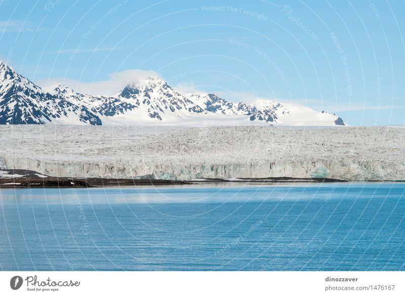 Gletscher in der Arktis Ferien & Urlaub & Reisen Meer Winter Schnee Berge u. Gebirge Umwelt Natur Landschaft Klima Küste frieren blau weiß Eis polar Spitzbergen