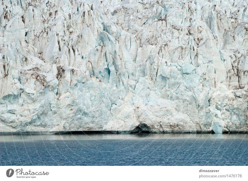Gletscher Ferien & Urlaub & Reisen Meer Winter Schnee Berge u. Gebirge Umwelt Natur Landschaft Klima Küste frieren blau weiß Eis Arktis polar Spitzbergen