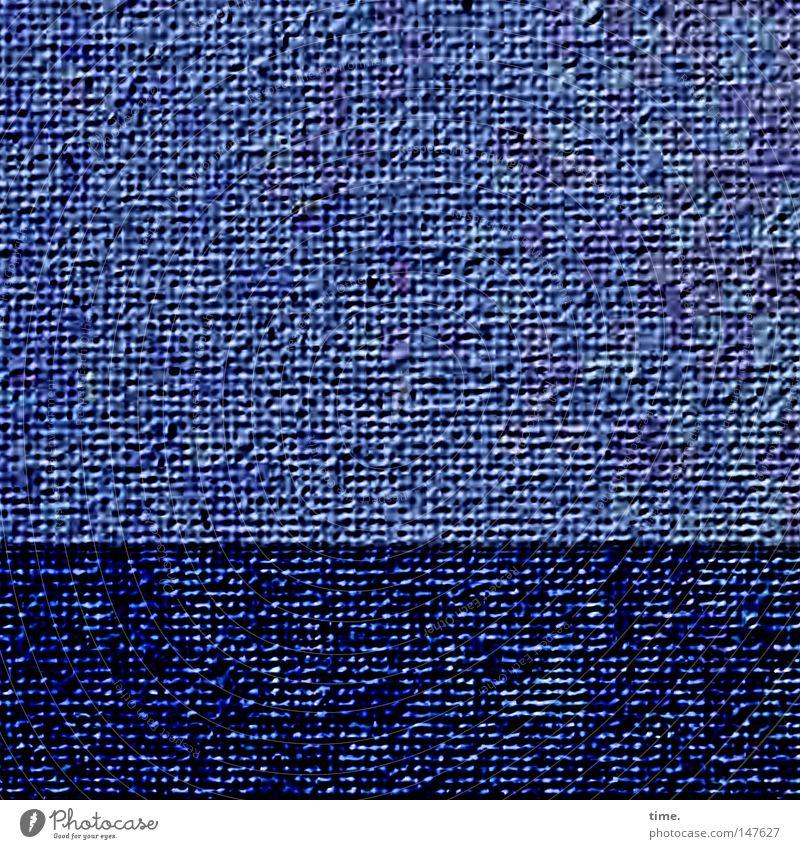 Das Meer ist heute ganz glatt, bemerkte Lukas Stoff blau Farbe hell-blau Textilien Am Rand Ecke filigran Loch parallel horizontal utopisch obskur Illusion