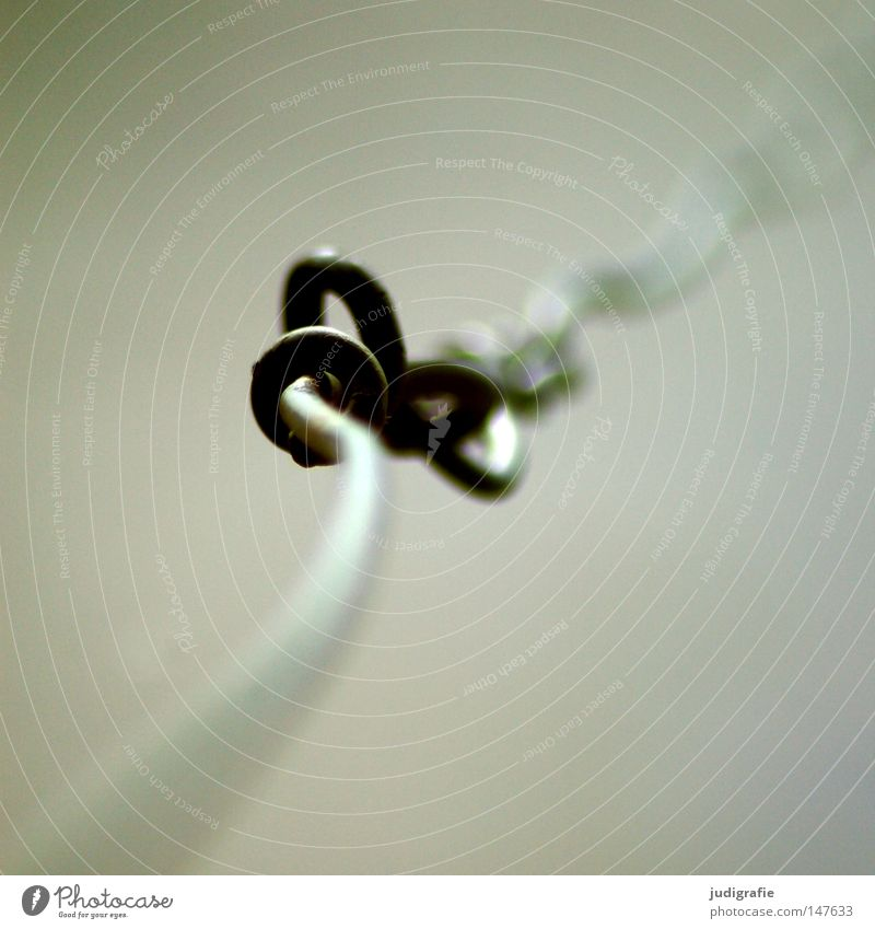 Knoten Farbe Linie Kraft fest Verbindung obskur drehen Draht Biegung gekrümmt Befestigung Schlaufe biegen verdreht