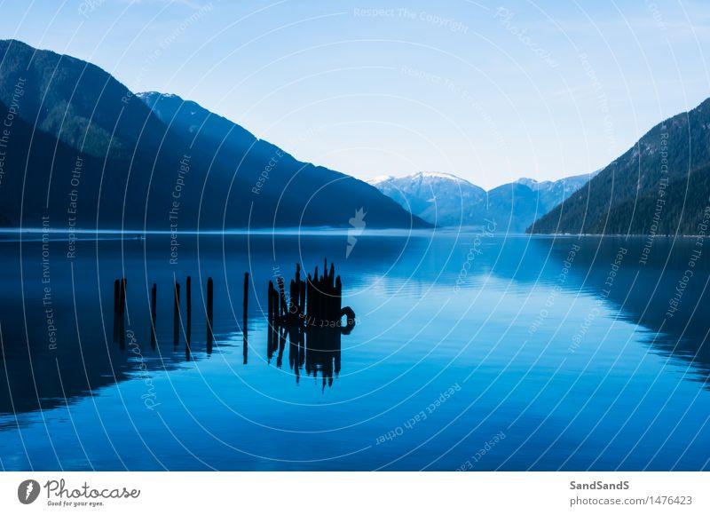 Vertrauen Natur Wasser Landschaft ruhig Umwelt Stimmung Seeufer Schneebedeckte Gipfel Gelassenheit