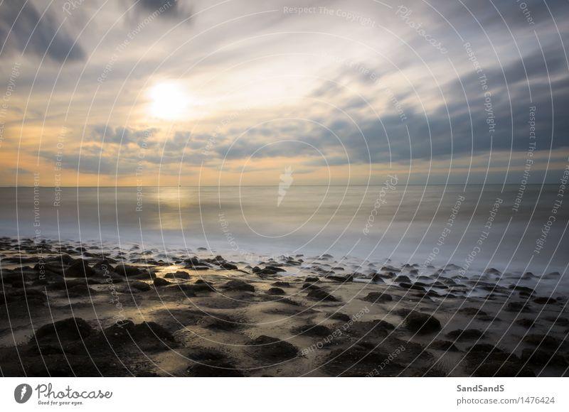 Niederländischer Sonnenuntergang Umwelt Natur Landschaft Urelemente Erde Sand Luft Wasser Himmel Wolken Horizont Sonnenaufgang Sonnenlicht Sommer Schönes Wetter