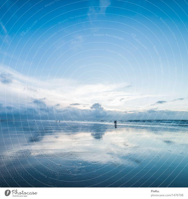 Am Meer Himmel Natur Ferien & Urlaub & Reisen blau Wasser Landschaft Wolken Ferne Strand Umwelt natürlich Küste Freiheit Stimmung Horizont