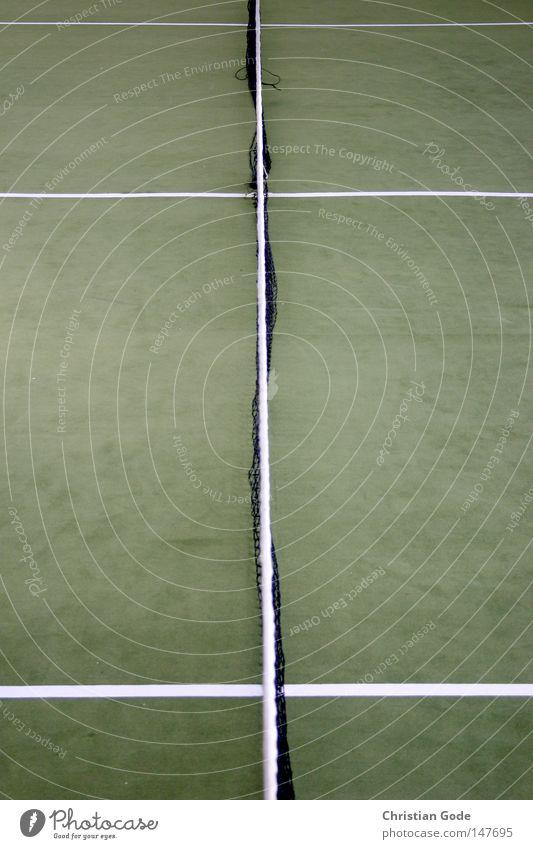 Spielball Tennis Teppich Winter Winterpause reserviert Tennisball grün Linie weiß Geschwindigkeit Spielen Tennisschläger 2 Aufschlag springen Sport diagonal