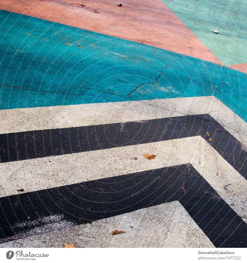 Die wunderbare Welt der Geometrie l 6 blau Farbe weiß schwarz Straße Graffiti Hintergrundbild Lifestyle Linie rosa Design Verkehr dreckig elegant modern
