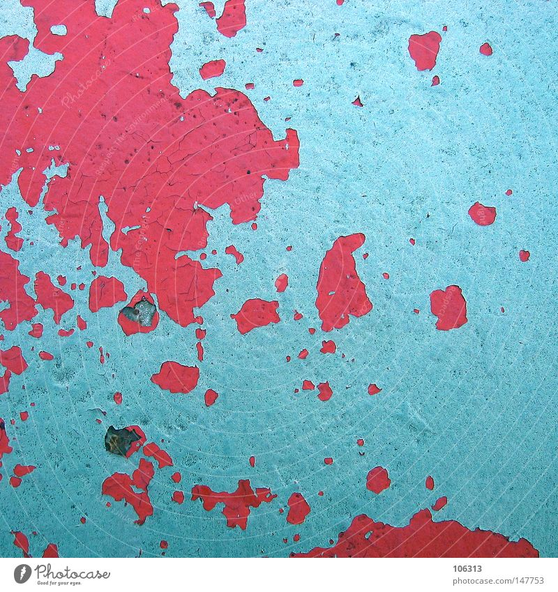 Plattentektonik: Kontinentaldrift alt blau rot Farbe Erde Metall Ordnung Zukunft Aussicht Klima Schutz Metallwaren Punkt verfallen obskur Verfall