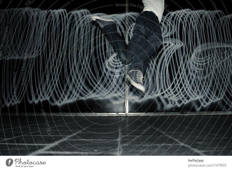 tanzmarie springen Freude Sprunggelenk Bewegung Politische Bewegungen Schmuck Design Tanzveranstaltung Flugzeug Schweben Aktion Aufschrift Tagger sprühen Club