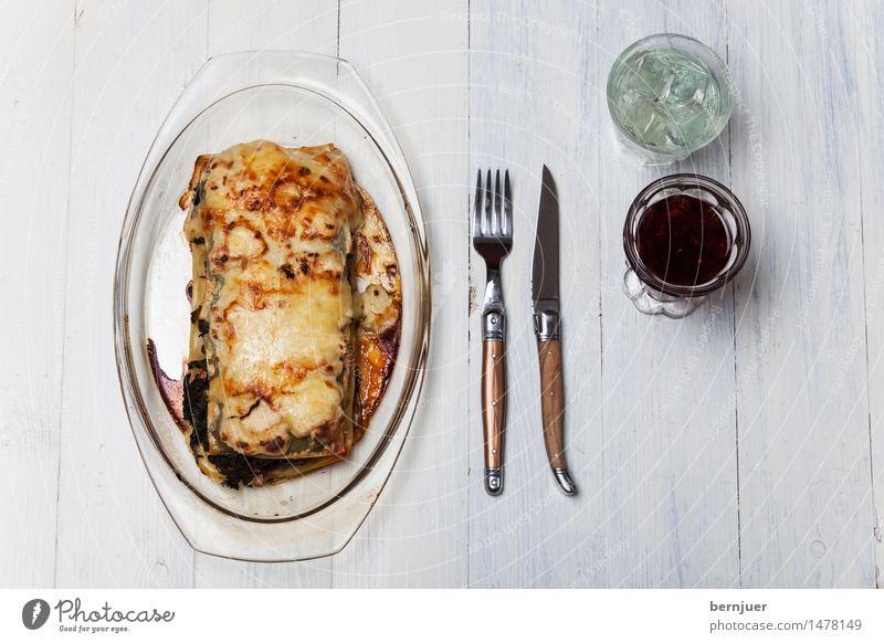 Popeyelasagne Foodfotografie Holz Lebensmittel Glas Getränk Gemüse Wein gut Backwaren Schalen & Schüsseln Alkohol Messer Vegetarische Ernährung Teigwaren Käse