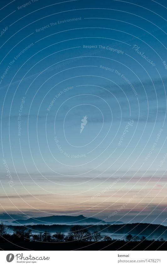Dusk Zufriedenheit Sinnesorgane ruhig Ferien & Urlaub & Reisen Tourismus Ausflug Abenteuer Ferne Freiheit Natur Landschaft Himmel Wolken Nachthimmel