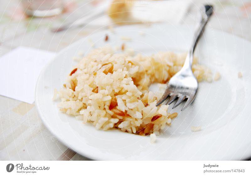 mjam ! Reis Ernährung Türkei lecker Gabel glänzend Teller Mittagessen Appetit & Hunger satt Gesellschaft (Soziologie) Mahlzeit Lebensmittel Speise Gastronomie