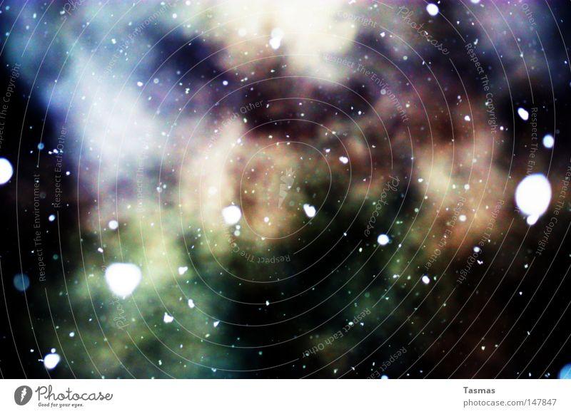 Sternenstaub Winter kalt Schnee Stil Schneefall Weltall Rauch Rauschmittel obskur Seele Versuch Phantasie Staub Illusion Sternenhimmel