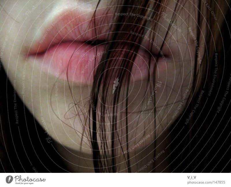 Gelassenheit rot braun Trauer Verzweiflung Lippen Behaarung nach unten Traurigkeit