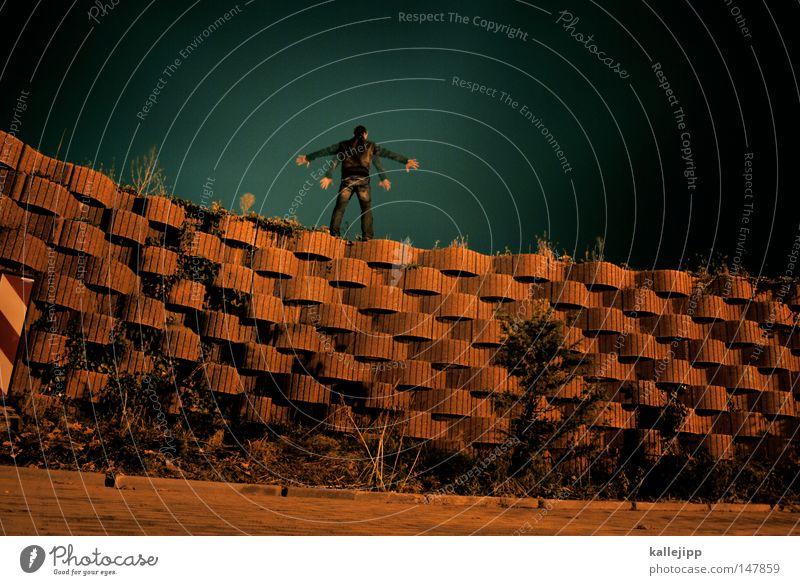 30 sekunden Mensch Mann Hand Stadt Haus Fenster Berge u. Gebirge Gefühle Architektur springen See Luft Linie Tanzen Glas fliegen
