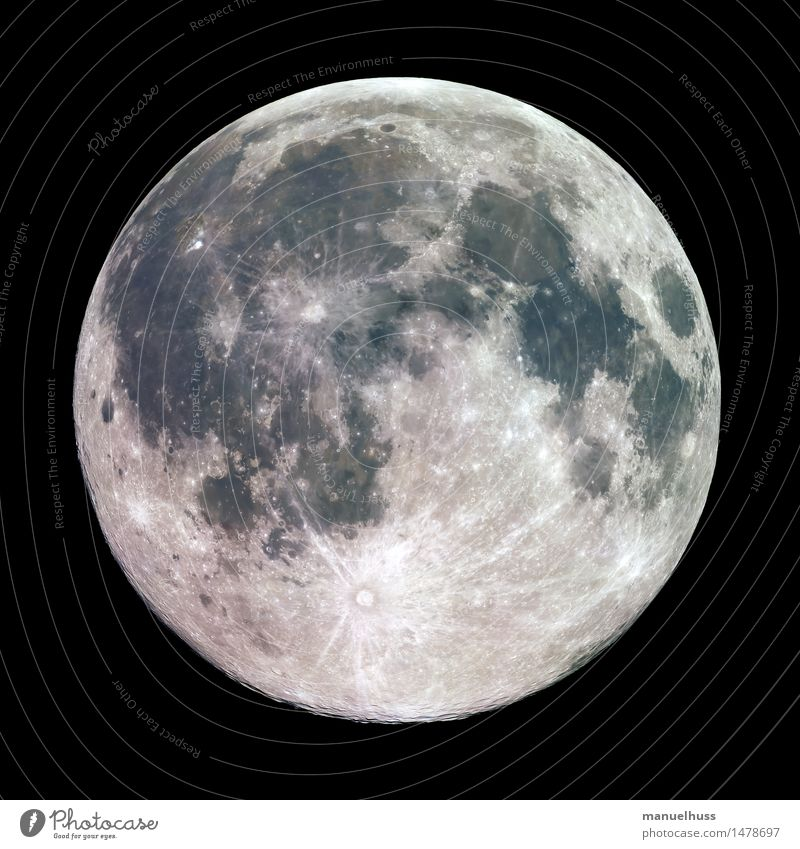Vollmond blau grün weiß schwarz grau braun groß Weltall Wissenschaften dick Mond Oberfläche Nachthimmel voll gigantisch Mineralien