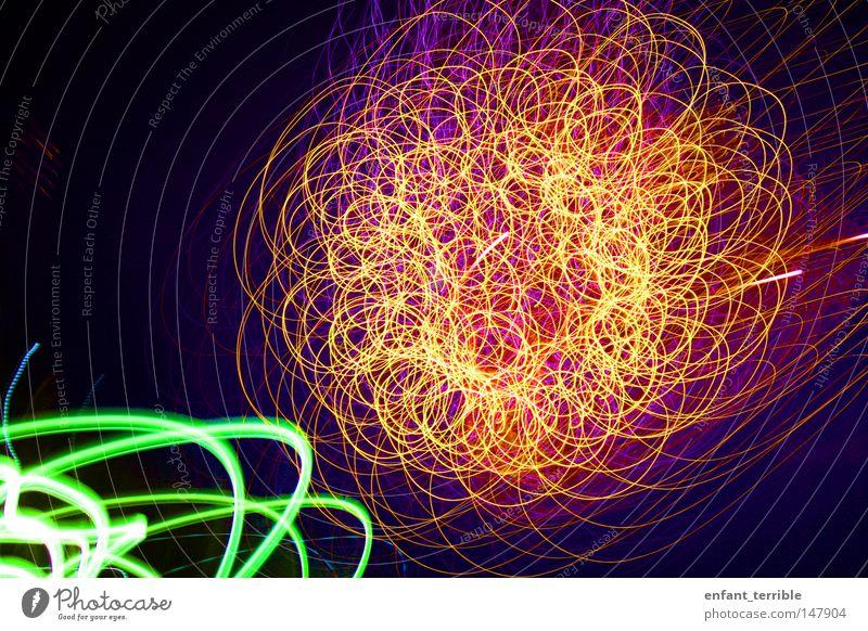 _4th july_ Sonne grün rot gelb USA Feuerwerk Neonlicht strahlend Juli