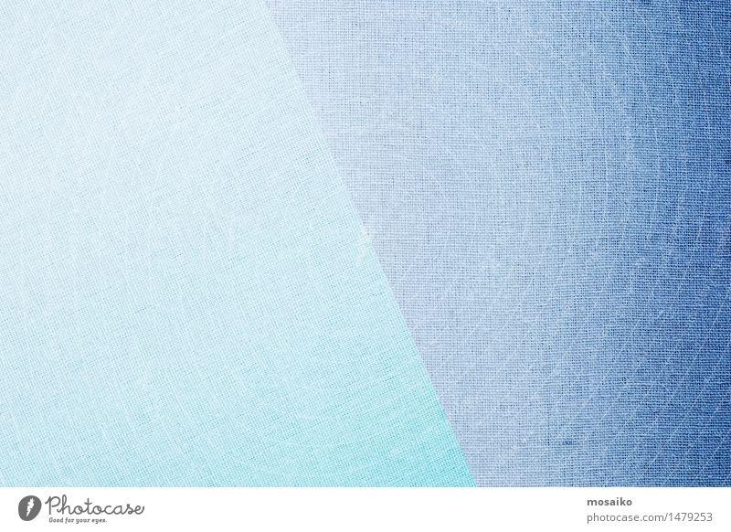 Leinenstoff - blau Design Mode Bekleidung Stoff ästhetisch retro weich Farbe Tradition Material Faser diagonal Hintergrundbild Kontrast hell dunkel