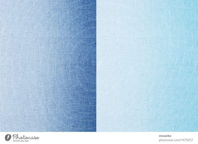 Leinenstoff - dunkelblau und hellblau Design Mode springen retro weich Farbe Zufriedenheit rein Tradition Textilien Stoff Hälfte teilen hell-blau Trennung