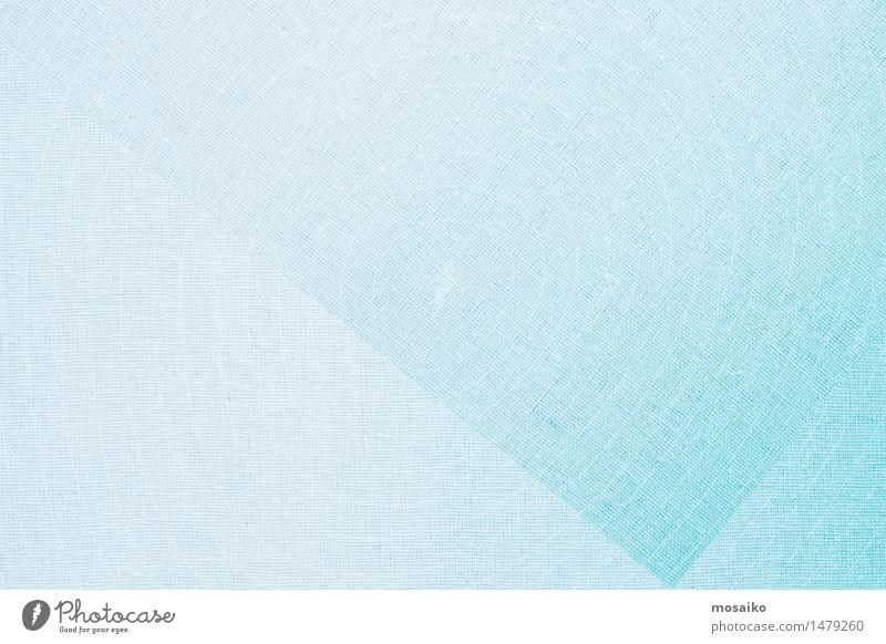 Leinenstoff hellblau Design Mode ästhetisch trendy retro weich rein Stil Tradition Tischwäsche Stoff Pastellton hell-blau Faser Nähgarn diagonal Dreieck Spitze