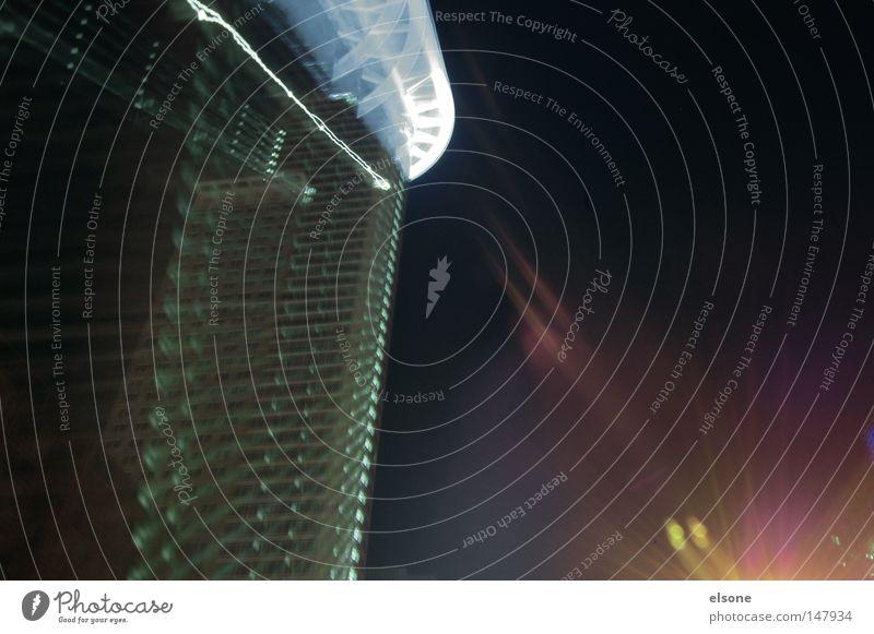 ::liGHTS:: Nacht Langzeitbelichtung Experiment Hochhaus Frankfurt am Main Licht hell Linie abstrakt Verschiebung