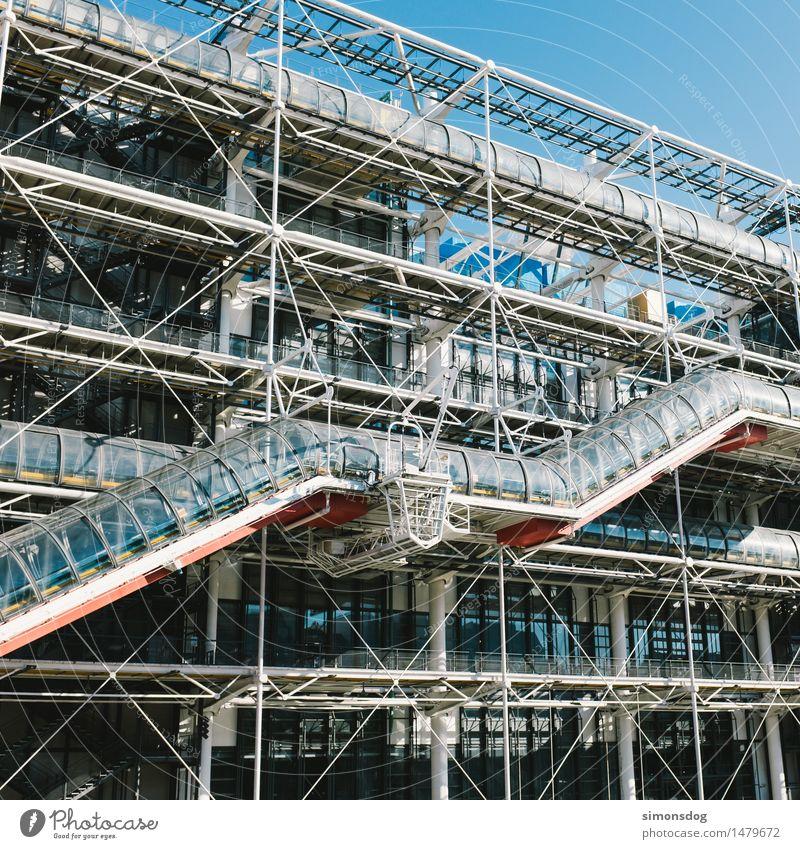 Konstruktion Bauwerk Gebäude Architektur Sehenswürdigkeit Wahrzeichen Centre Pompidou Bildung einzigartig Kultur Kunst Paris Tourismus Reiseführer Frankreich