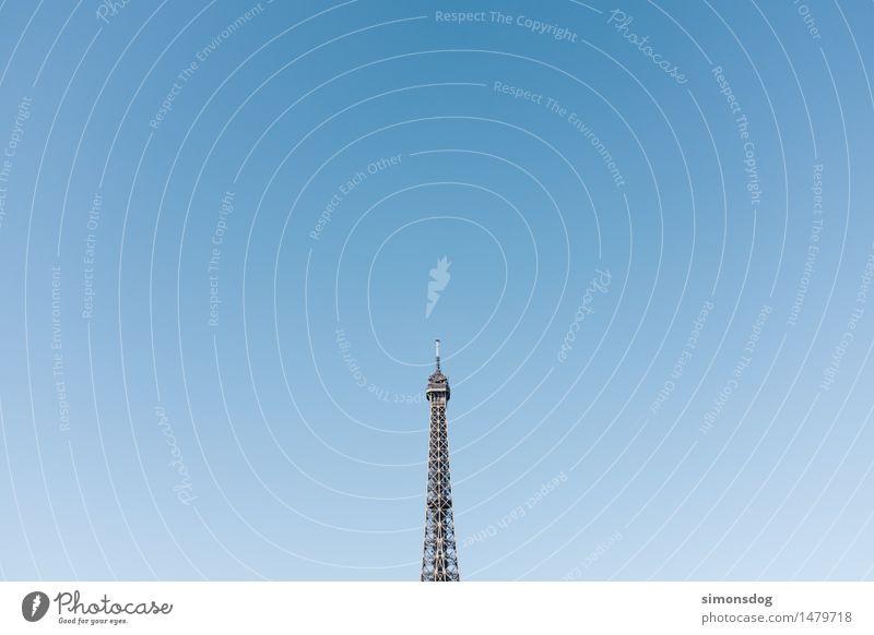 pointe Turm Sehenswürdigkeit Wahrzeichen Denkmal Tour d'Eiffel Inspiration Ferien & Urlaub & Reisen Symmetrie Tourismus Paris Frankreich Stahlkonstruktion hoch