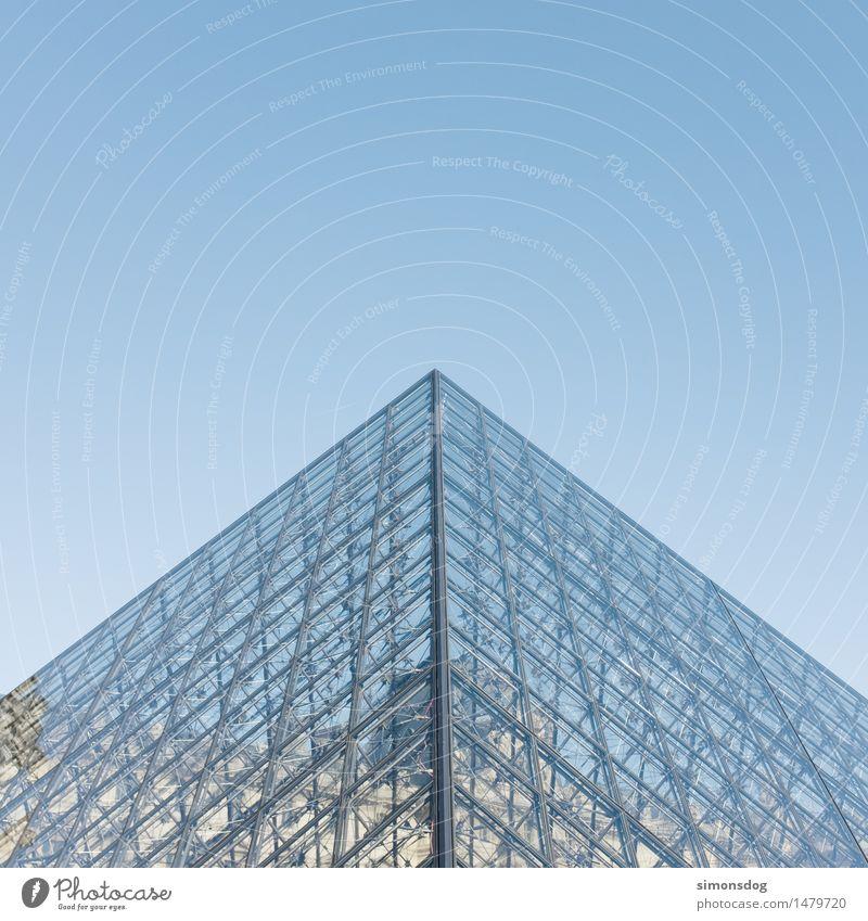 Pyramide Bauwerk Gebäude Architektur Sehenswürdigkeit Wahrzeichen Louvre Ferien & Urlaub & Reisen Gesellschaft (Soziologie) Tourismus Kunst Kultur Paris