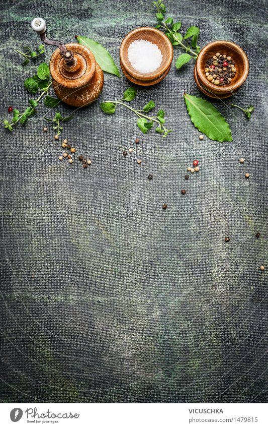 Tisch gew rz set mit pfefferm hle und frische kr uter von for Pokerstars tisch design download