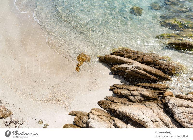 fresh Natur Ferien & Urlaub & Reisen Sommer Wasser Erholung Landschaft Strand Küste Stein Sand Felsen Tourismus Wellen Idylle nass Schönes Wetter