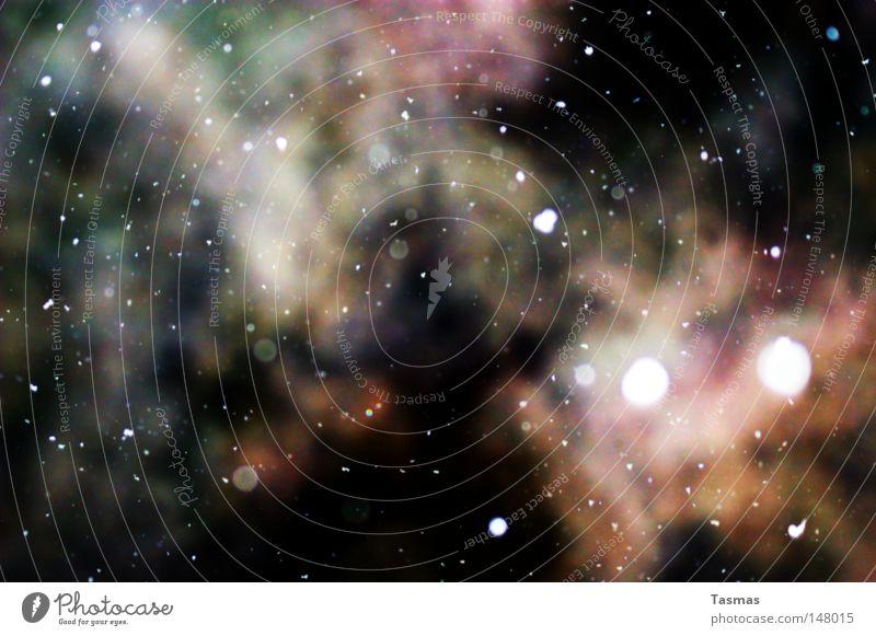 Irgendwo da draussen... Winter kalt Schnee Stil Schneefall Stern Stern (Symbol) beobachten Weltall Rauch Rauschmittel Kontrolle Seele obskur Versuch Phantasie