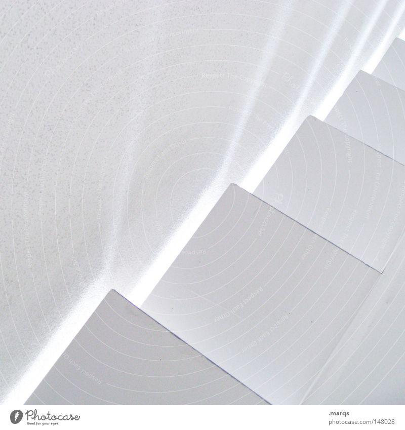 Rough Edges Gedeckte Farben Innenaufnahme abstrakt Textfreiraum links Textfreiraum oben Licht Schatten Lichterscheinung Gebäude Architektur Treppe Linie