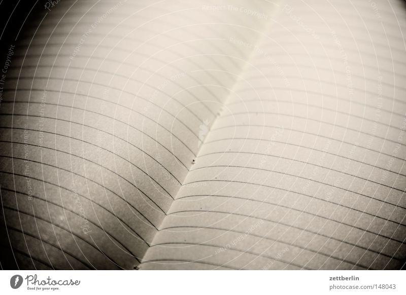 Platz für Notizen weiß Linie Buch frei offen Papier leer Schriftzeichen Kommunizieren Buchstaben schreiben Information Sitzung Schriftstück Seite Zettel