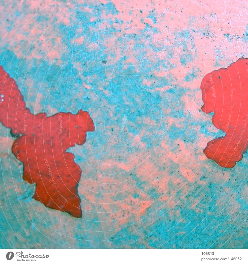 Red Against Red rot graphisch Landkarte Rost trashig Verfall verfallen Apokalypse abblättern Rostschutzfarbe Symbole & Metaphern Sinnbild Globus Kontinente