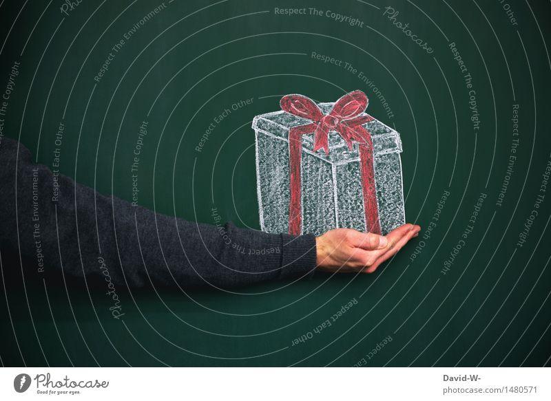 Geschenk Mensch Jugendliche Mann Weihnachten & Advent Hand Junger Mann Freude Erwachsene Leben Liebe Feste & Feiern maskulin Geburtstag Arme Kreativität