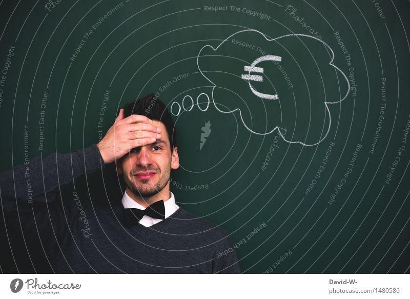 Finanzkrise Mensch Ferien & Urlaub & Reisen Jugendliche Mann Junger Mann Erwachsene Leben Lifestyle Kopf Business maskulin elegant kaufen Geld Wirtschaft
