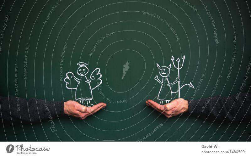 Gut - Böse Spielen Mensch Paar Jugendliche Erwachsene Leben 2 Kunst beobachten Aggression Freundlichkeit niedlich Gefühle Vertrauen Zufriedenheit Partnerschaft