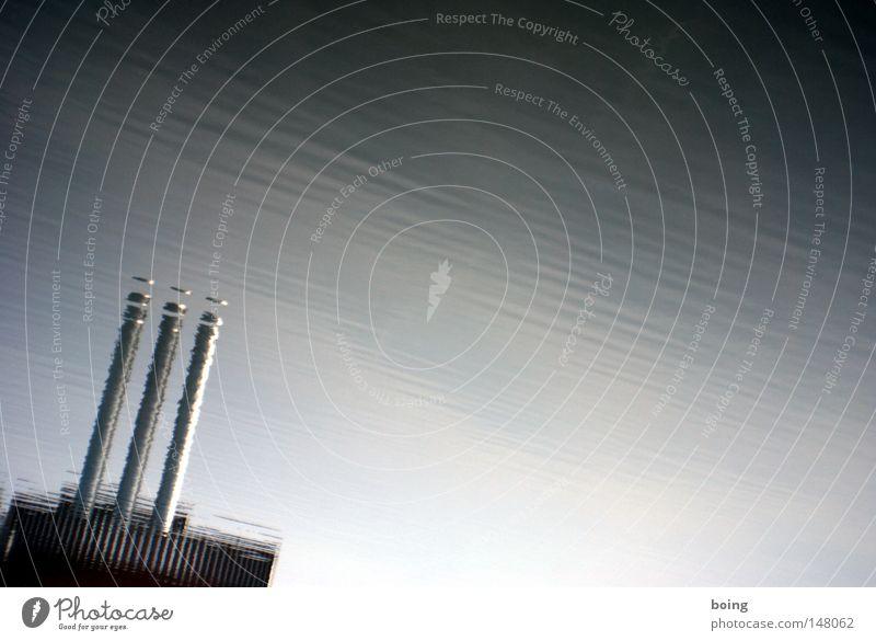 scheibchenweise Linie Wellen Wind Energie Industrie Elektrizität Fluss Industriefotografie Turm Streifen Röhren Denkmal Main Wahrzeichen Schornstein fließen