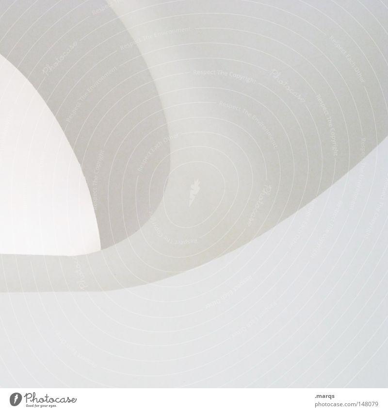 Arc hell Licht grau weiß rund steril Ecke Sauberkeit sehr wenige abstrakt Architektur Detailaufnahme Logo Linie clean Bogen