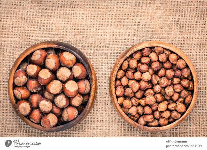 Haselnüsse Weihnachten & Advent Gesunde Ernährung Essen Gesundheit Holz Feste & Feiern Lebensmittel braun Frucht frisch Tisch genießen kaufen Küche lecker