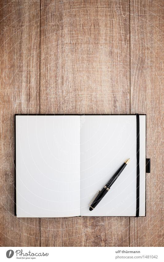 Notizbuch weiß schwarz Denken braun Business Arbeit & Erwerbstätigkeit Wohnung Design Büro Freizeit & Hobby Kreativität lernen planen Bildung schreiben Medien