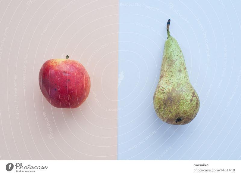 Apfel und Birne Essen Herbst natürlich Kunst Lebensmittel Frucht Zufriedenheit Ernährung ästhetisch Kreativität Bioprodukte Ernte Apfel nachhaltig Schalen & Schüsseln Vegetarische Ernährung