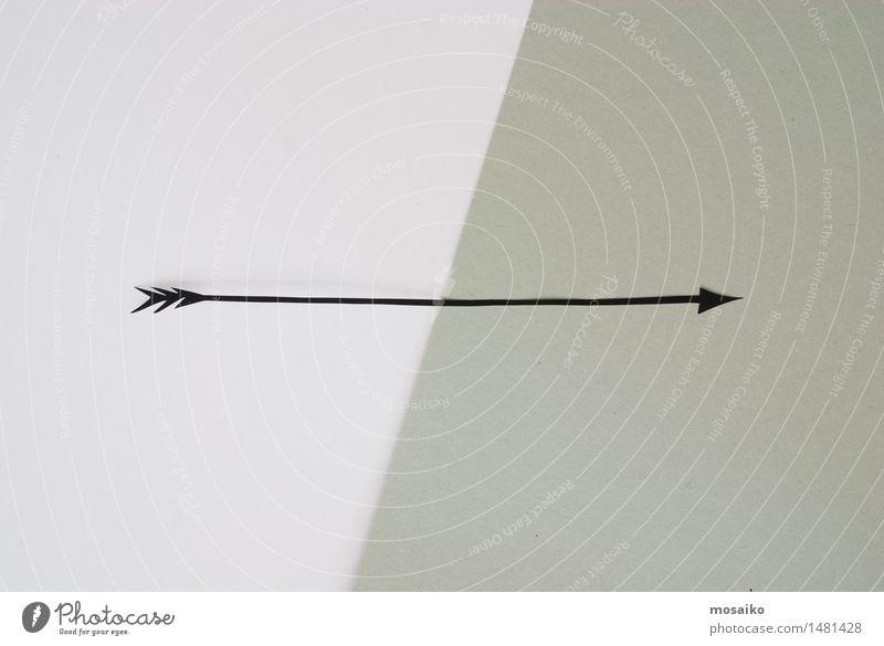 schwarzer Pfeil Lifestyle elegant Stil Design Zeichen Schilder & Markierungen Bewegung gehen retro ästhetisch planen Richtung altehrwürdig grau richtungweisend