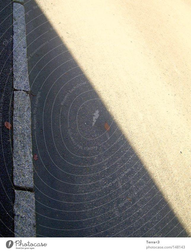 \ oder Yin-Yang.. weiß Sonne Blatt dunkel schwarz Straße Wärme Herbst Wege & Pfade Beleuchtung Stein Linie hell Grafik u. Illustration Neigung Boden