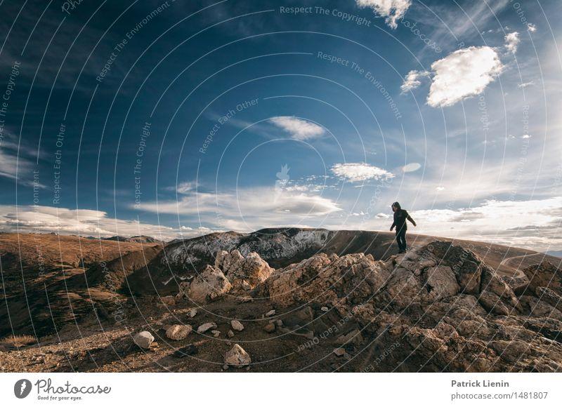 Wanderlust Wellness Zufriedenheit Sinnesorgane Erholung ruhig Ferien & Urlaub & Reisen Ausflug Abenteuer Ferne Freiheit Expedition Berge u. Gebirge wandern