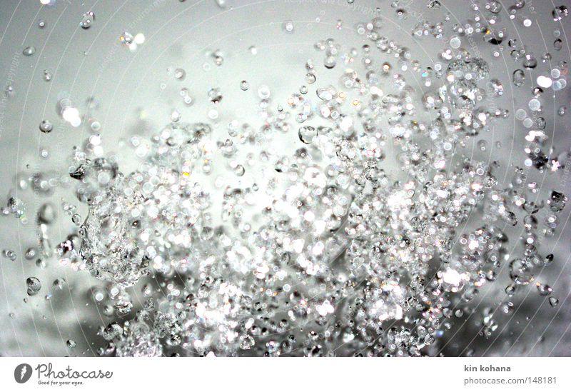 perlenkette Wasser kalt glänzend Wassertropfen nass Vergänglichkeit Tropfen Schifffahrt feucht verteilen perlen